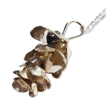 Bipin sterling pine cone necklace
