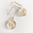 Botanical Full-Moon Elderberry Flower Earrings - Mini