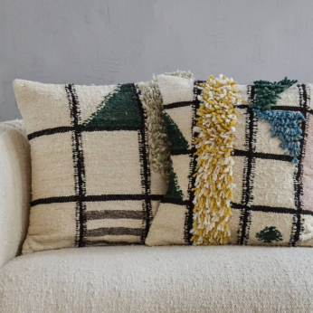Grid Wool Pillow Covers, Meso Goods