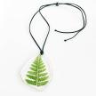 Botanical Irregular Plaque Fern Statement Necklace