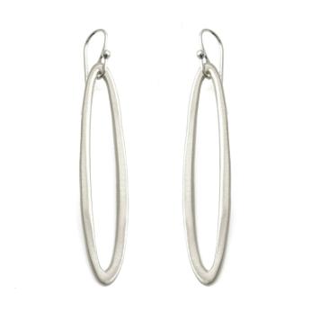medium oval earrings