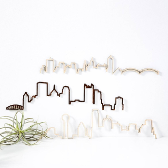 City Floating Skyline Case Pack [of 6]