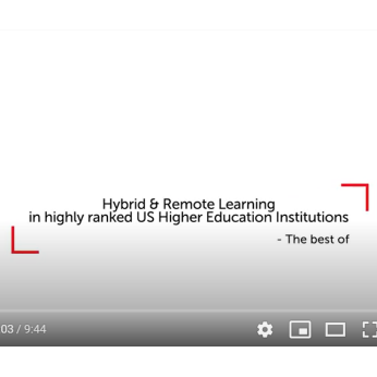 Hybrid and online learning: US higher education institutions speak out (highlights)