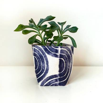 Serpentine Waves Small Fabric Planter