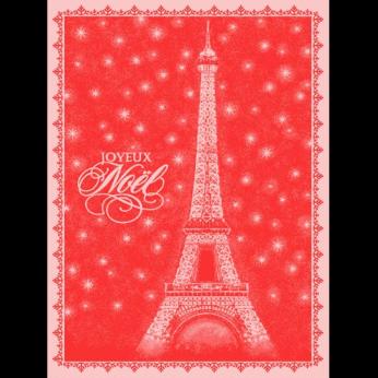 Mierco Eiffel Holiday Jacquard Tea Towel