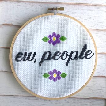 Ew, People Counted Cross Stitch DIY KIT