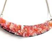 acrylic small necklace orangesalmon
