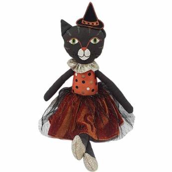 'ELVIRA' Halloween Cat Doll