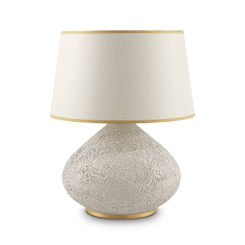 SNOHA Lace Patterned Ceramic Table Lamp