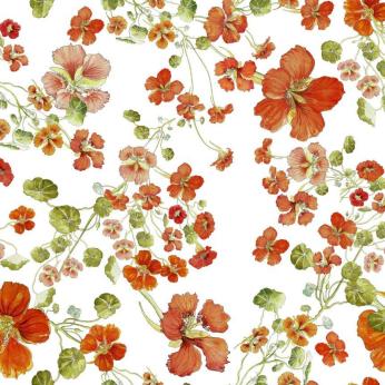 Nasturtium Cotton Tablecloth