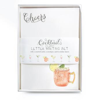Cocktails Letter Writing Set