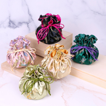 Jewelry Pouches (Brocade Fabric with Butterfly or Dragonfly pattern)