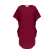 Lotus Silk Dress | Russian Red