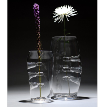 """Blown Glass - Clear Function Series -  """"Solo Fiori Vase"""""""
