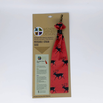 Reindeer Reusable Straw Case - Holiday