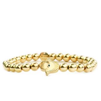 Gold Hamsa Beaded Bracelet