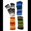 Wide- Stripe Fingerless Gloves