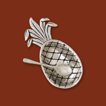 Pineapple Salt Cellar w/spoon