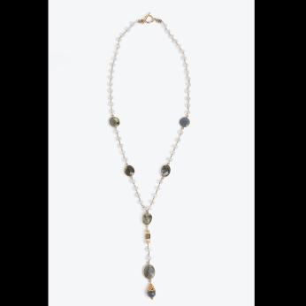 Jupiter Labradorite Moonstone Necklace
