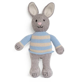 Grey Bunny in Sweater