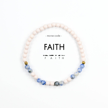Morse Code Bracelet // Faith