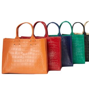 Adelaide Handbag  Collection Crocodile Print