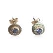 """Alexandrite Confetti Earrings"" Alexandrite and 14KT Gold Post Earrings"