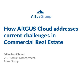 How ARGUS Cloud addresses current challenges in CRE
