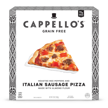 Almond Flour Italian Sausage Pizza with Roasted Red Pepper, 12oz