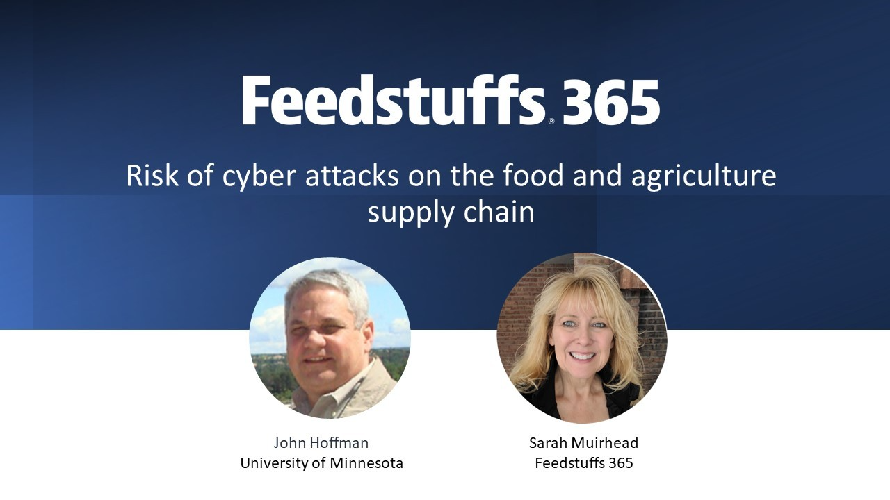 Risk of cyber attacks on the food and agriculture supply chain