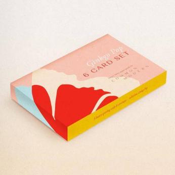 Gift Set of 6 Ginko Pop Notecards