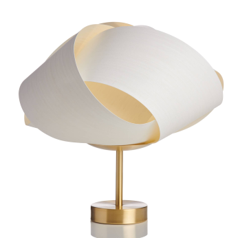 FLEUR wood and brass table lamp