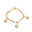 Gold Pave Charm Bracelet