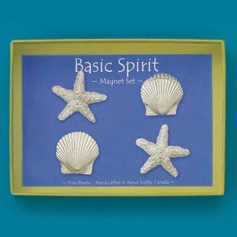 4 Shells Magnet Set