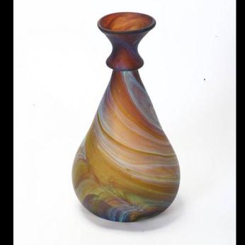 Bulb bottom long double lip vase