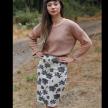 Organic Cotton jacquard Pencil Skirt