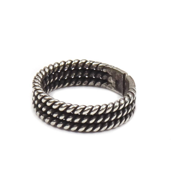 Stacking Twist Tribal Sterling Silver Ring