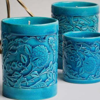 LEVNALEVN Turquoise Candle Holder