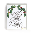 Holly Jolly Christmas Cards, Set of 8