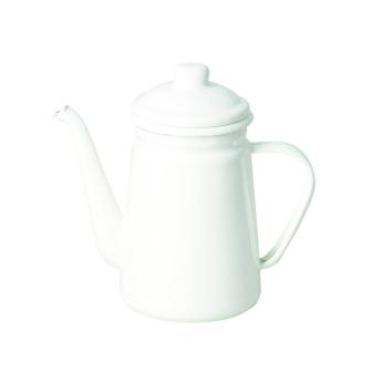 Enamel Coffee Pot - White