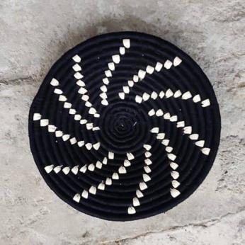 Black spiral wall basket