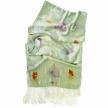 Plant-Dyed Silk Velvet Scarf: Indigo Marigold