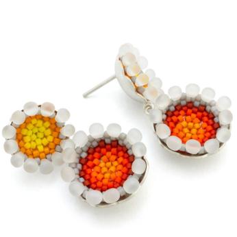 Double Coral Earrings