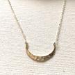 Hammered Crescent Necklace, sterling silver
