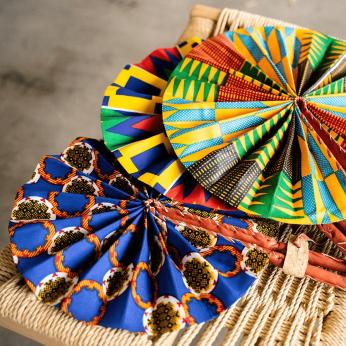 African Fabric Fan