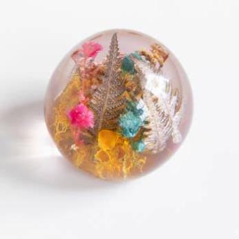 Mixed Botanical Pebble Paperweight