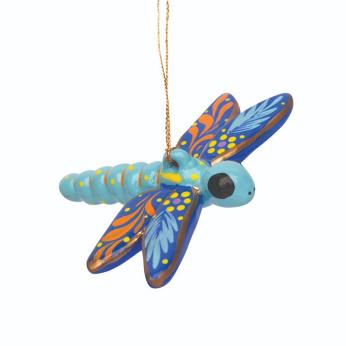 Dragonfly Confetti Ceramic Ornament
